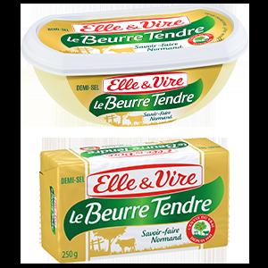 BEURRE TENDRE 1/2S 80% PLAQ OU BARQUETTE 250G