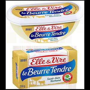 BEURRE TENDRE DOUX 82% PLAQ OU BARQUETTE 250G