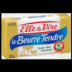BEURRE TENDRE DOUX 82% PLAQ 125G